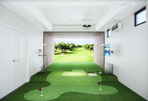 Phòng golf trong nha Anh Lê