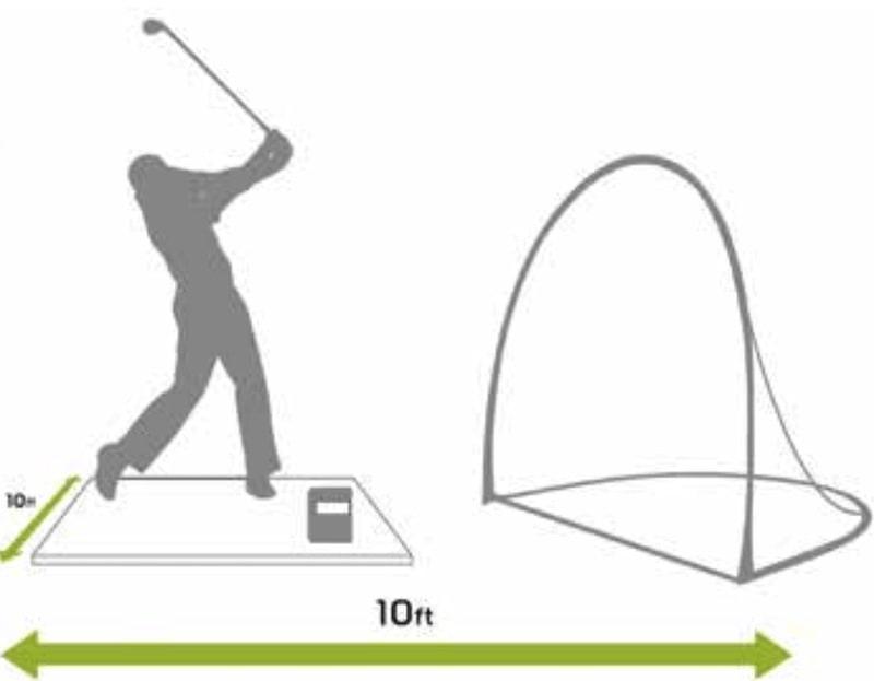 Vị trí đặt skytrak golf